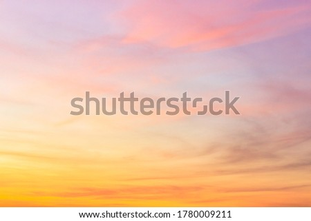 Majestic Sky sunset in the evening with idylic sunlight on clouds Royalty-Free Stock Photo #1780009211