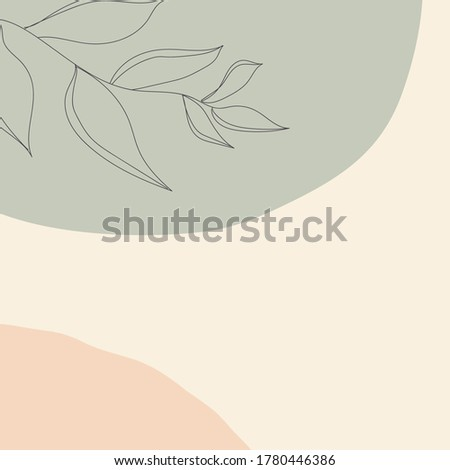 Abstract shapes and twig in pattern.Cute soft art background trendy for stationery, business cards, print posters,to do lists,greeting cards, surface patterns,calendars, diary, stickers.Raster