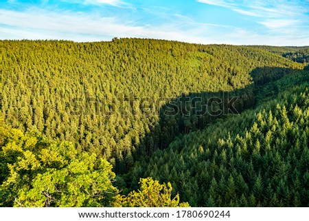View of the Vosges mountains in the Bas-Rhin department of France #1780690244