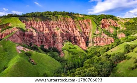 Red Ravine, badland natural reservation in Transylvania, Romania #1780706093