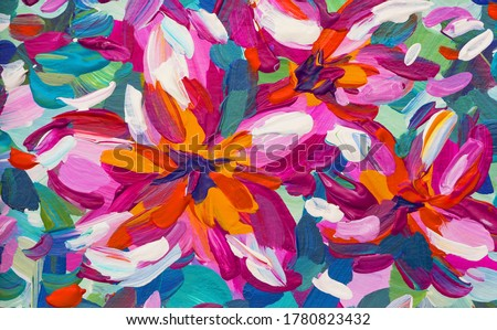 Pink Plumeria Flower Painting - Tropical Painting Art - Brush Painting Nature Royalty-Free Stock Photo #1780823432