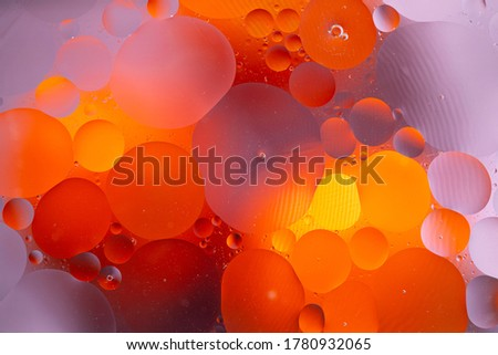 Abstract background as a result of a mixture of water and oil