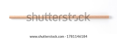 Paper straws on a white background Royalty-Free Stock Photo #1781146184