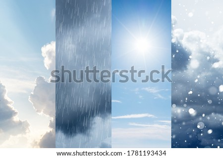 The changes of weather. A natural phenomenon of the differences of four seasons Royalty-Free Stock Photo #1781193434