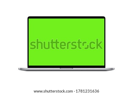 laptop computer with green screen