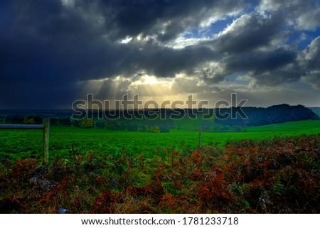 Beautiful Scene Sun Light from the Cloud