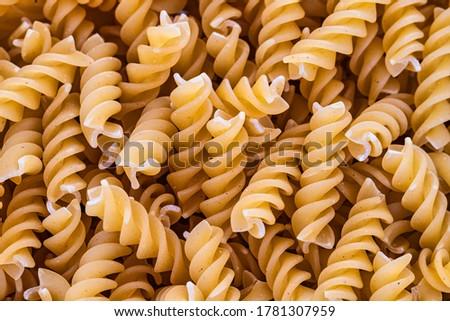 Noodles Pasta raw pattern Fussili #1781307959