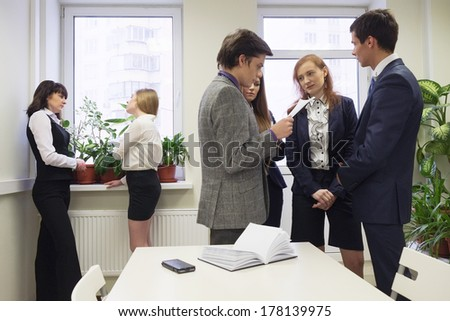 deliberation in an office #178139975