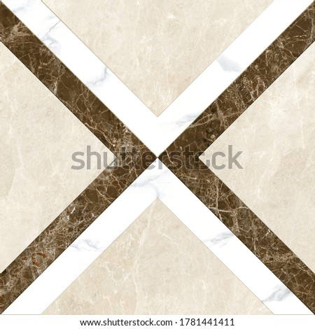 decorative marble cross pattern with brown and white #1781441411