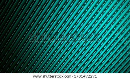 Steel plate photos reflecting blue light, creating a blue beauty, creative background, text and advertising space design
