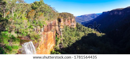 Beautiful flowing River in Fitzroy Falls in Bowral NSW Australia Royalty-Free Stock Photo #1781564435