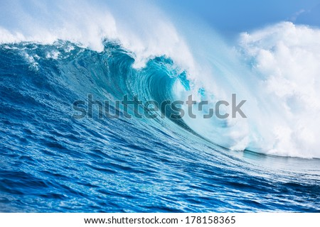 Large Powerful Ocean Wave Royalty-Free Stock Photo #178158365