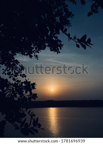 A great background picture to write quotes showing a good scene and sunset