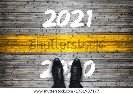 Welcome to 2021, Goodbye to 2020 Start Concept Royalty-Free Stock Photo #1781987177