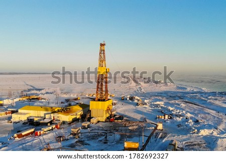 Drilling rig for oil and gas well drilling. Drilling rig for oil and gas well drilling. #1782692327