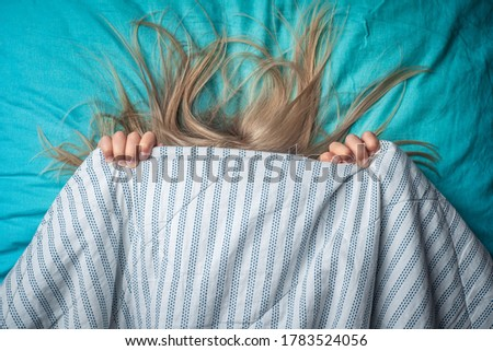 the child is afraid to sleep alone. child has nightmares Royalty-Free Stock Photo #1783524056