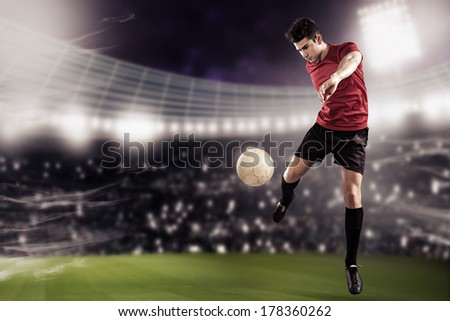 soccer or football  player on the field #178360262
