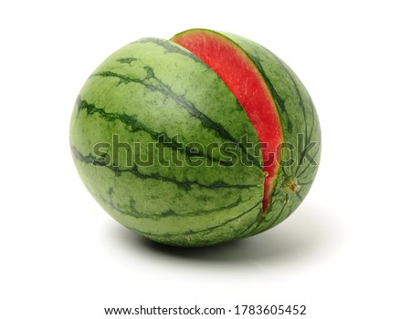watermelon on a white background