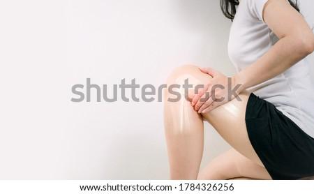 Human leg Osteoarthritis inflammation of bone joints  Royalty-Free Stock Photo #1784326256