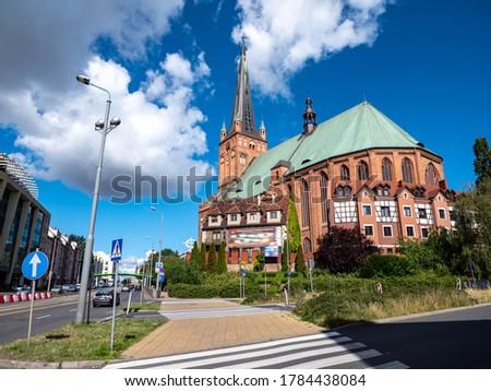 Jacob's Cathedral in Szczecin Poland Royalty-Free Stock Photo #1784438084