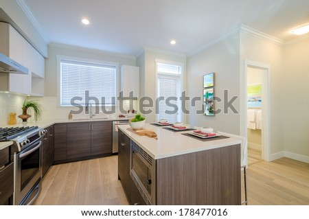 Modern kitchen in luxury house. #178477016