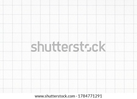 Sheet of blank white notebook grid paper background. Extra large highly detailed image.