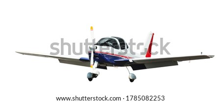 Picture of sports aeroplane isolated on a clean white background