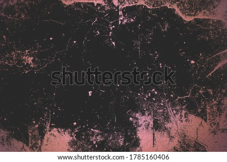 Black luxury grunge texture. Effect overlay pink gold. Black pink background. High quality print.