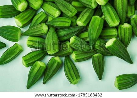 Green Okra fresh food healthy
