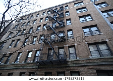 These are photos of fire escapes in Harlem.