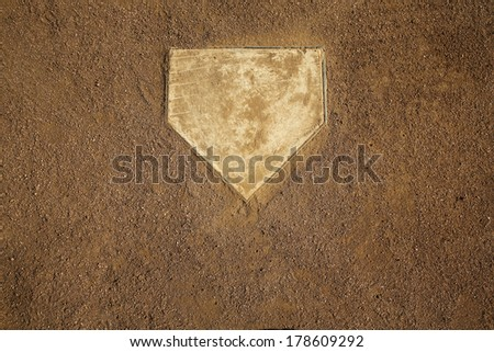 Baseball Field at Home Plate with Room for Copy Royalty-Free Stock Photo #178609292