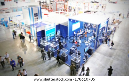Intentionally blurred trade show background Royalty-Free Stock Photo #178610705