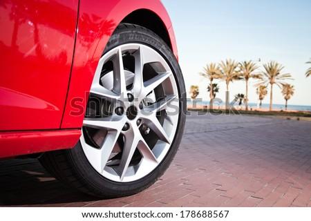 Car wheel in summer #178688567