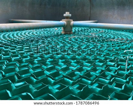 Cooling pad in the cooling tower Royalty-Free Stock Photo #1787086496