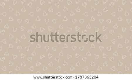 Garlic pattern wallpaper. Garlic vector. wallpaper. Garlic symbol vector. Royalty-Free Stock Photo #1787363204