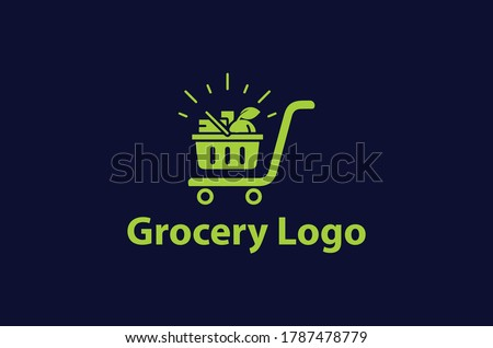 online shopping cart logo,grocery store logo design idea template,new grocery logo,store logo,basket logo,shopping cart logo. #1787478779