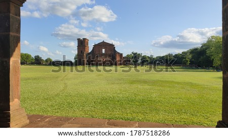 ruins church destroyed by battles brazil #1787518286