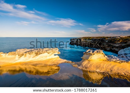 The beautiful coastline of Botany Bay National Park in an Afternoon Royalty-Free Stock Photo #1788017261