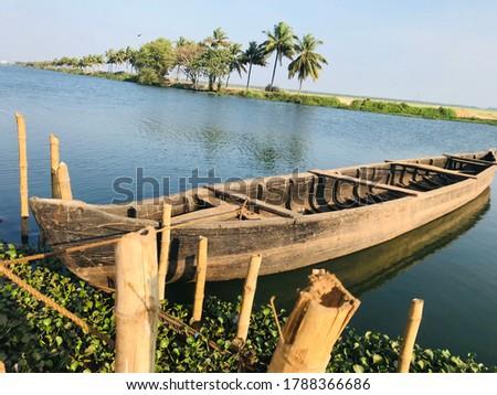 Natural beautiful kerala river picture