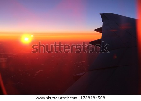 Impressive looking sunset pictures taken from jet at 37,000 feet