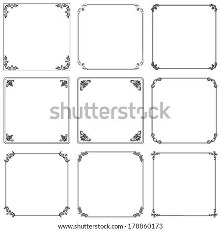 Set of vintage  decorative frame #178860173
