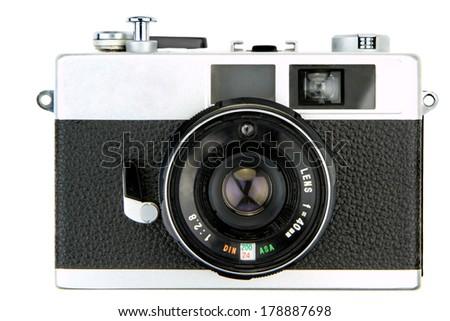 Retro camera isolated on white background #178887698