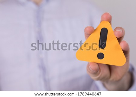warning stop shield sign attention symbol Royalty-Free Stock Photo #1789440647