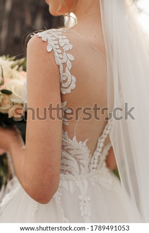 beautiful wedding, veil, bride's gatherings, preparation of the bride, style of the bride, morning of the bride, back of womans #1789491053