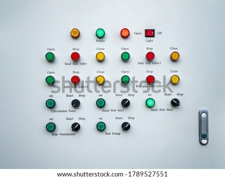 Control panel , push button and selector switch of control panel Royalty-Free Stock Photo #1789527551