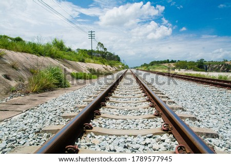 The length of the railway tracks in the forest #1789577945