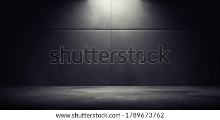 Dark room with light background. Royalty-Free Stock Photo #1789673762