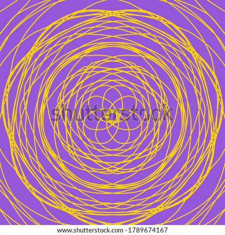 Yellow abstract shape on purple background. Computer generated geometric illustration. Abstract digital background. Geometric Shape, Circle, Geometry, Line, Spiral, Spirograph, Symmetry, Ornament #1789674167