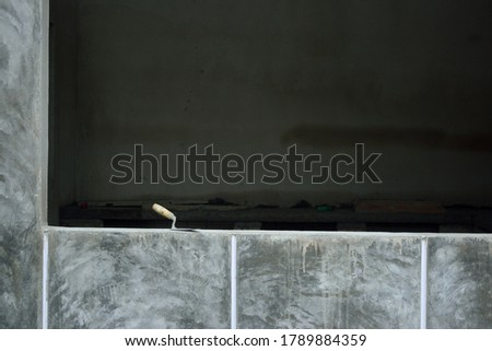 this pic show the trowel plaster in construction site