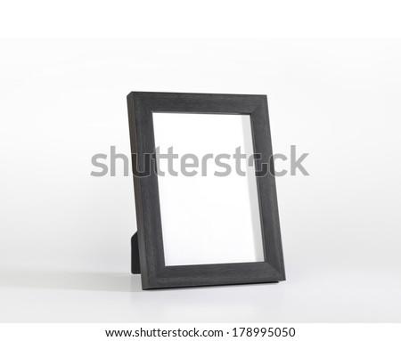 An elegant black desk photo frame #178995050